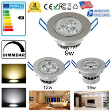 9W 12W 15W Non/Dimmable LED Ceiling Recessed Downlight Spot Lamp Home Lighting