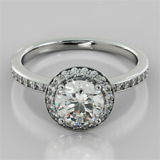 2.20 Ct Solitaire Diamond Anniversary Proposal Ring Hallmarked Real Gold Wedding