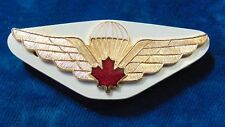 Canada Canadian OSONS Airborne paratrooper para enameled wings badge RED ML B