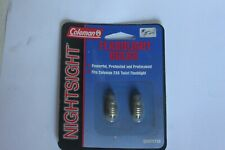 COLEMAN NIGHT SIGHT 2 AA FLASHLIGHT BULBS NOS (CH)
