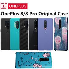 Original Official OnePlus 8 8 Pro Sandstone Bumper Cyan Karbon Case Back Cover