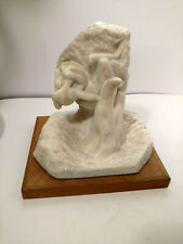 "RARE BEAUTIFUL MODERNIST 1965 SCULPTURE ""SOUL MATES"" SIGNED SPADEM FFR AMR"