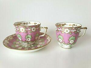 Antique Samuel Alcock English Porcelain Tea Cup Coffee Cup Saucer 1840 - 45