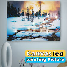 15'' Canvas LED Lighted Light-up Snow Art Painting Picture Print Home Wall Decor