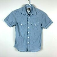 G Star Raw Short Sleeve Casual Shirt Size Men's Large