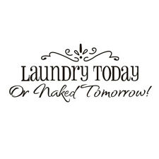 Laundry Today Letter Removable Self-adhesive Wall Sticker Decal Mural Room Decor