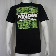 FAMOUS STARS & STRAPS Hot Box Marijuana Logo T-Shirt S NEW