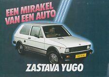 1986 ZASTAVA YUGO PROSPEKT BROCHURE CATALOGUE NIEDERLÄNDISCH