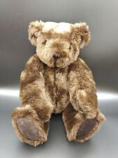 """Authentic Vermont Teddy Bear Jointed 16"""" Plush Chocolate Brown -- see note"""