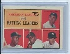 1961 Topps A.L. Batting Ldrs #42 (Howard, Minoso, Skowron,Runnels)! $10+bv!