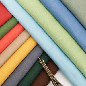 Diy Solid Linen Upholstery Sofa Cloth Summer Shirt Clothing Slub Cotton Fabric