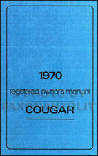 1970 Mercury Cougar Owners Manual 70 Owner Guide Book includes Cobra Jet and XR7