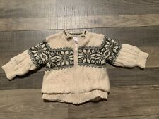 Baby Gap Cream Zip Sweater Size 6-12 Mos