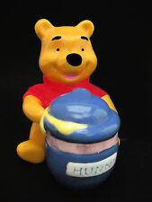 Salt & Pepper Shakers - Disney's POOH with HUNNY POT 1995 Treasure Craft Ceramic