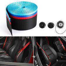 Car 3.6M Seat Belt Webbing Polyester Seat Lap Retractable Nylon Safety Strap M