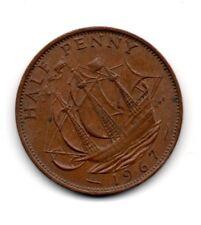GB/UK 1967 Half Penny Moneda Elizabeth Ii; Traje de Cumpleaños, Aniversarios Etc.