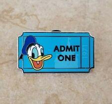 Pin Trading Disney Pins Donald Duck Walt Disney World Admit One Ticket 1971 Pwp