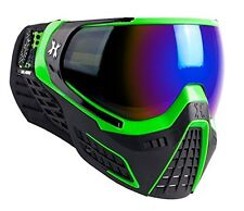 New HK Army LE KLR Thermal Paintball Goggles Mask Slime Black/Green Cobalt Lens