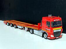 """DAF XF SC flatbed megatrailer """"Transports Capelle""""WSI truck models 01-3105"""