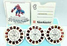 GAF Spiderman Double Trouble Viewmaster Reels Set Of 3 Reels