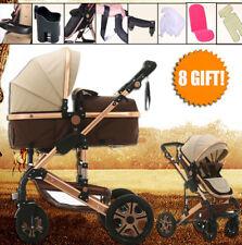 Baby Pram Stroller Bassinet Reversible Reclining Fold Buggy Jogger Lightweight