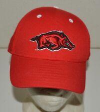new product 22d1b be078 Red New Era Arkansas Razorbacks NCAA Football Pro Fitted Hat Size 7 1 4  MINTY
