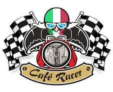 Italian Flag CAFE RACER Ton Up Club Basin Bobber Retro motorbike helmet sticker