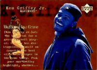 1998 Upper Deck Seattle Mariners Baseball Card #140 Ken Griffey Jr. DG