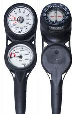 H2Odyssey Scuba Diving 3 Gauge Console (Pressure Gauge, Depth Gauge & Compass)