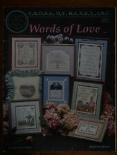 CROSS MY HEART INC - CROSS STITCH PATTERN LEAFLET CSB-53 - WORDS OF LOVE