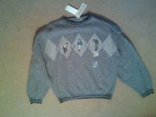 NWT MENS GRAND SLAM LS SWEATER PULLOVER CREW STYLE GOLF THEME GOLFERS LARGE