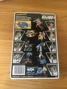 GI JOE MOTORIZED ACTION PACK X 4  MOC vintage 1988 Climber ,Helicopter, gun,rope