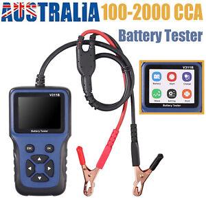 12V Car Battery Tester Auto Alternator Load Analyzer Tool 100-2000 CCA ATV AGM