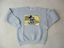 VINTAGE Disney Mickey Mouse Sweater Adult Small Gray Yellow WDW Mens 90s