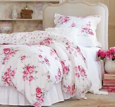 NEW Simply Shabby Chic Sunbleached Floral Duvet Cover Set Full/Queen Rose Pink