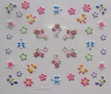 Accessoire ongles nail art Stickers autocollants- papillon, fleurs et libellules