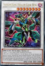 3 x YuGiOh COTD-EN039 SUPREME KING DRAGON CLEAR WING Rares CODE OF THE DUELIST