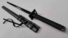 Japanese  Straight Katana Ninja Sword With long tube&12 Blow-dart