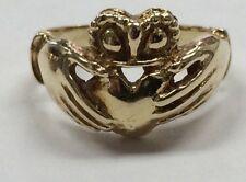 14K Yellow Gold CLADDAUGH Ring Size 7 BEAUTIFUL 6.5 grams!