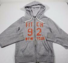 MS&Co Abercrombie And Fitch Grey Hooded Distressed Women's Zip Up Jacket Coat S