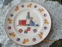 VINTAGE TIFFANY & CO MASON'S IRONSTONE CHILD'S FEEDING PLATE( NO 8 )COLLECTABLE