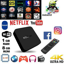 MXQ Android 7.1 Quad Core 1G+8G Smart TV Box WiFi Set Top Box 4K Media Player HD