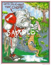 "Georgia Bulldogs Football Dave Helwig 2013 ""Let'sTalk..."" artwork print UGA"