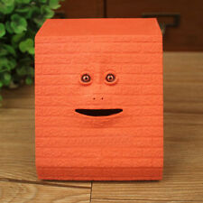 Facebank Face Bank Sensor Coin Eating Saving Money Box Child Kids Gift Red O