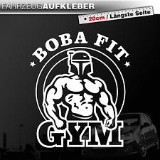 Boba Fit   Boba Fett / Star Wars Satire   Gym   Fun   Weiß   PKW Auto Aufkleber
