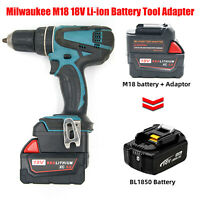 Milwaukee M18 18V Li-ion to MAKITA 18V BL Serie Li-ion Batterie Werkzeug Adapter