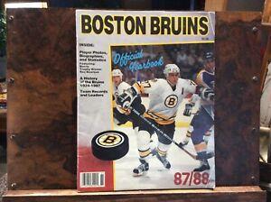 Boston Bruins 1987/ 88 Yearbook - VG