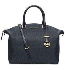 NWT MICHAEL Michael Kors Riley PVC Large Satchel Handbag Baltic Blue $368
