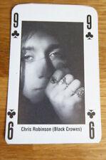 CHRIS ROBINSON BLACK CROWS SINGLE CARD KERRANG THE KING OF METAL 1990's
