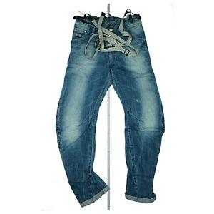 G-STAR Arc 3D Loose Tapered Braces Unisex Jeans Hose m. Hosenträger W31 L32 Blau
